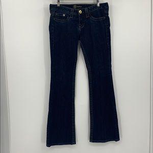 BEBE  medium wash blue boot cut jeans